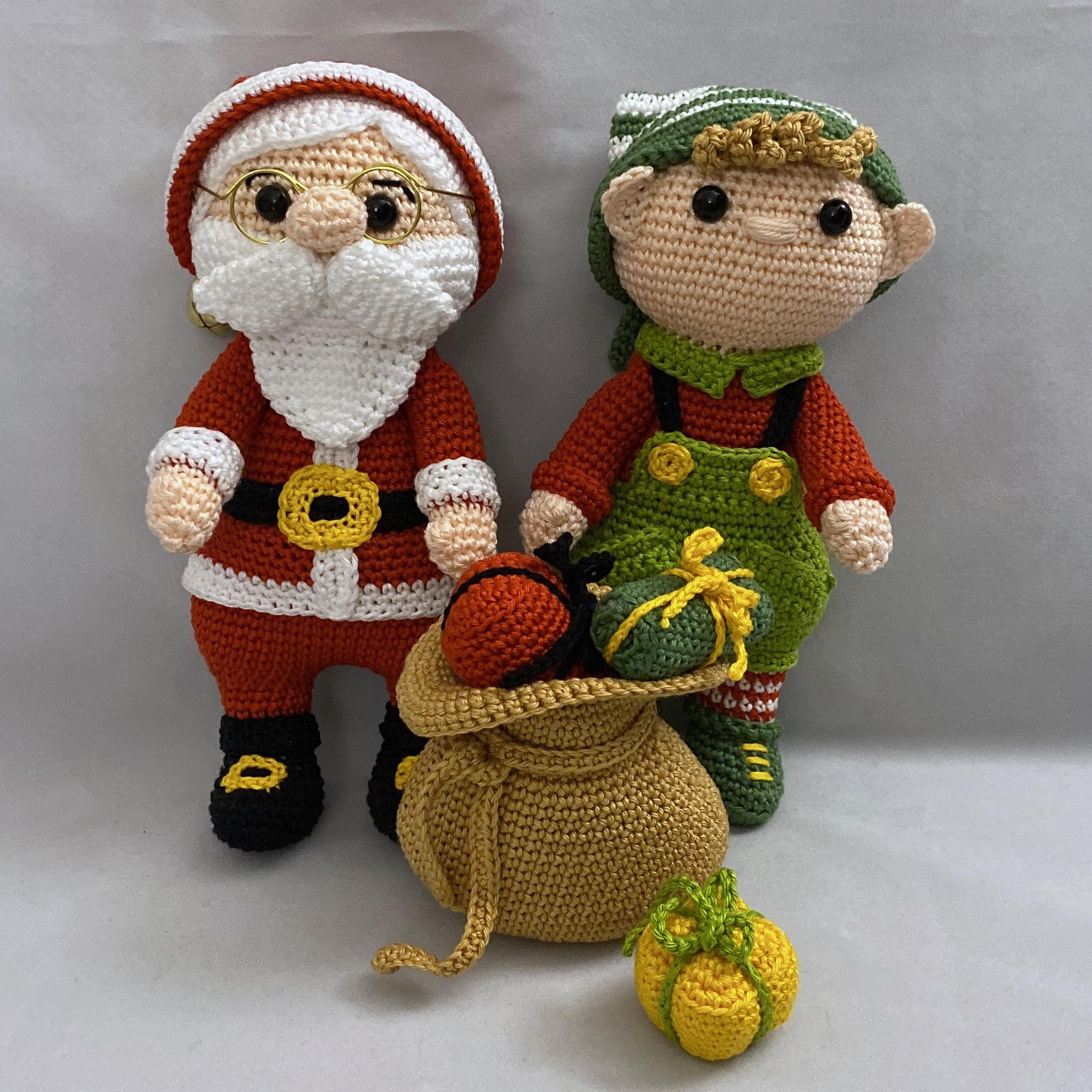 Haakpatroon Kerstman en Kerst elf